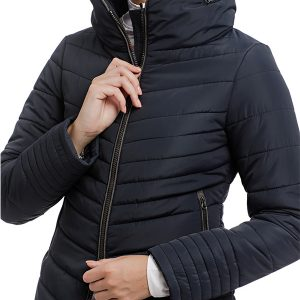 maya padded jacket front