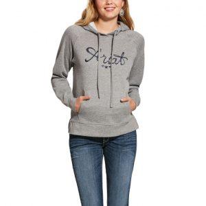 real sequin hoodie grey